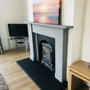 Our cosy fireplace