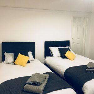 Twin bed setup