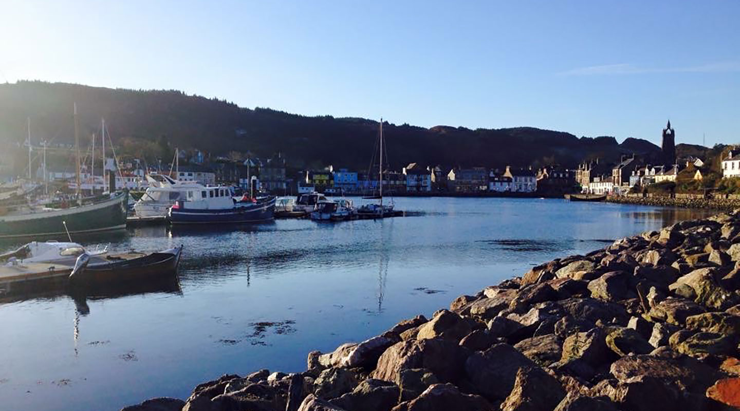 The idyllic village of Tarbert, Argyll, Scotland