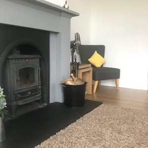 Lounge - cosy wood burning stove